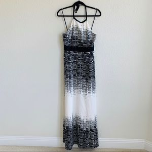Vince Camuto Black/white Halter neck maxi dress 4